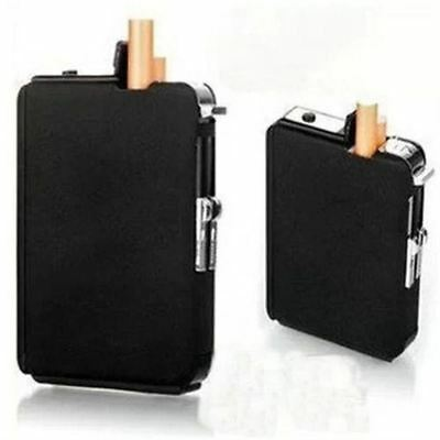 Cigarette Case & Lighter Automatic Ejection Butane Windproof Metal Box Holder ED