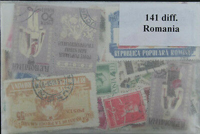 Romania, 141 stamps in packet (ww064a)