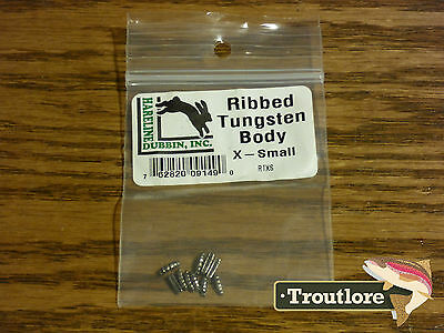 Fly Tying Materials - Hareline Dubbin Tungsten Ribbed Bodies Extra Small - New