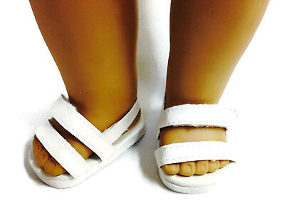 """White Sandal Shoes made for 18"""" American Girl Doll Clothes"""