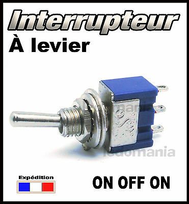 935# interrupteur à levier 1 circuit 3 positions ON - OFF- ON  <> 1 à 100pcs