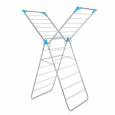 Minky X Wing 15m Indoor Clothes Airer Silver FREE P&P