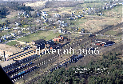 "Boston & Maine RR  roundhouse Dover NH aerial view  1966  4x6"" options available"