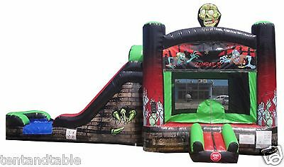 Zombie Commercial Inflatable Bounce House Slide Combo Jumper Tentandtable ECS