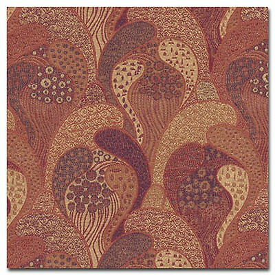 Vienna Workshops Archive Gustav Klimt Red Gold Heavy Duty Upholstery Fabric
