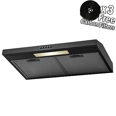 "30"" Under Cabinet Stainless Steel Push Button Range Hood Powerful Ventilation"