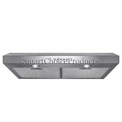 "30"" Kitchen Under Cabinet Stainless Steel Range Hood Cooking Vent Push Button"