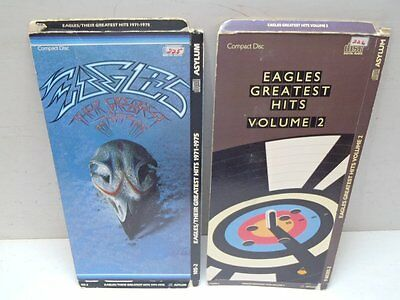 Hard To Find Pair of Eagles Greatest Hits Vol. 1 & 2 Longbox No Disc CD Boxes Or