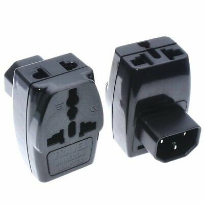 Universal to IEC320 C14 Electrical Plug Adapter 3-Way Outlet AC100~250V 10A
