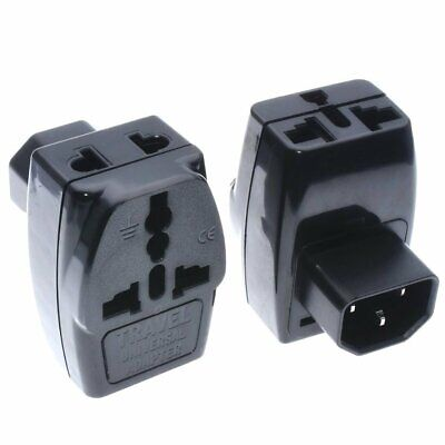 Universal to IEC320 C14 Electrical Plug Adapter 3 Way Outlet Multi Receptacle