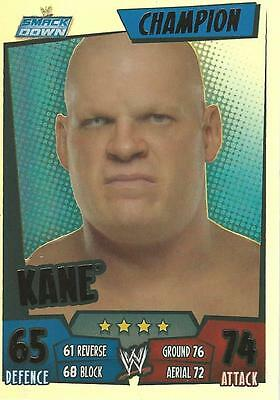 WWE Topps Slam Attax Rumble Trading Card Foil Champion Card Kane