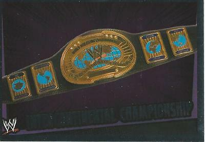 WWE Topps Slam Attax Rumble Trading Card Foil Title Card IC Championship
