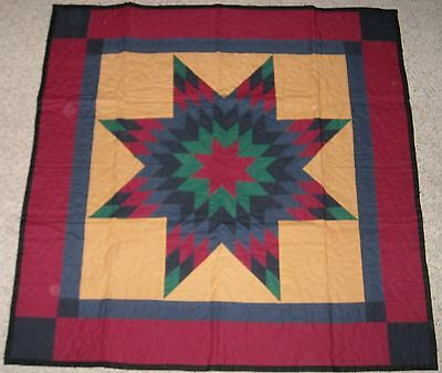 Hand Stitched Lonestar Amish Wall Quilt