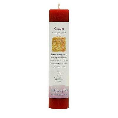 Courage  - Crystal Journey Pillar Herbal Candle