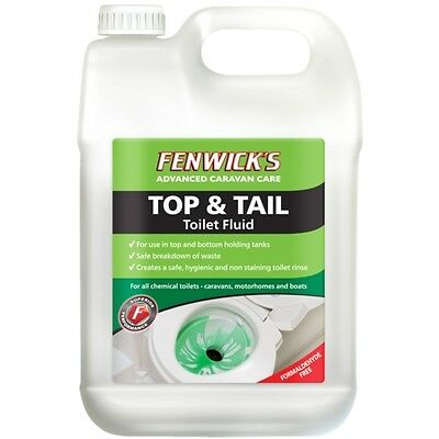 Fenwicks Top & Tail Chemical Toilet Fluid 2.5 Litre for Caravan, Motorhome, Boat