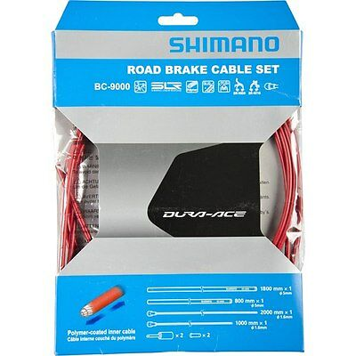 Shimano Dura-Ace 9000 Polymer-Coated Road Bicycle Red Brake Cable Kit