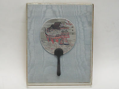 ANTIQUE SIGNED EARLY 20 c CHINESE PIEN MIEN FAN FACE SCREEN LACQUER HANDLE 古董扇子