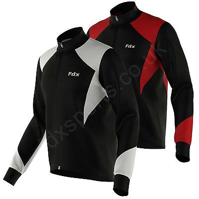 FDX Cycling Jacket Windstoper Thermal Fleece Winter Soft Shell  Running Jackets