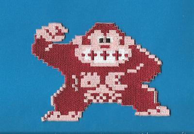 Retro Nintendo Donkey Kong Mario Brothers Iron On Embroidered Cosplay Patch C