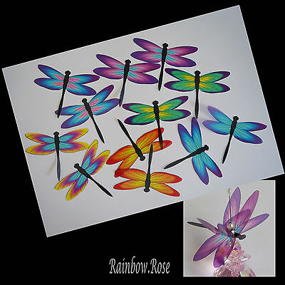 Transparent Film Dragonfly #53 Rainbow Size 4 PRE-CUT 6 or 12 suncatchers etc 3D
