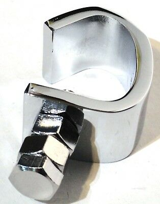 bumper guide bracket chrome clamp for steel Peterbilt Freightliner bumbers each