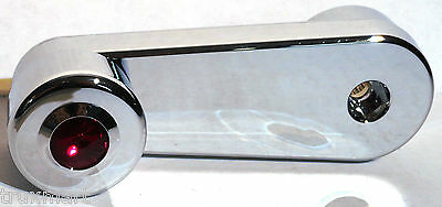 window crank red jewel chrome plastic slotted Freightliner Classic and FLD 1994+