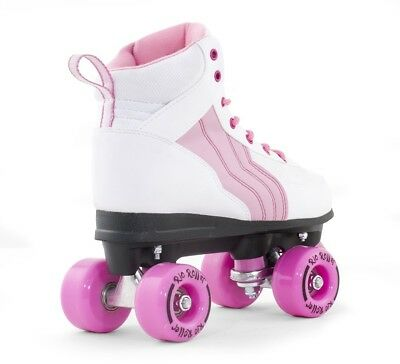 Rio Roller Pure Kids / Adult Quad Roller Skates - White /Pink