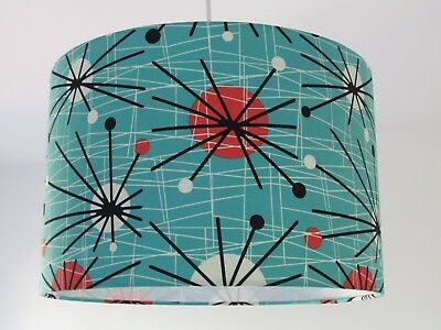 Turquoise Retro 50s Mid Century Sputnik Atomic Lampshade Ceiling Light Shade