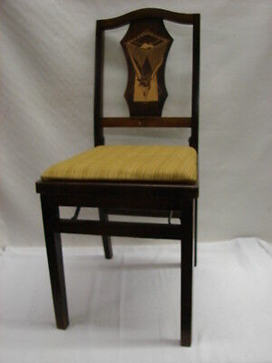 Vintage 30's Art Deco Funeral Parlor Folding Chair Solid Kumfort Louis Rastette