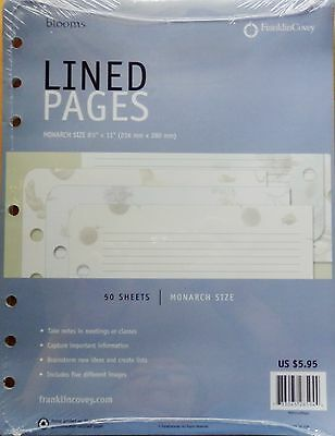 Franklin Covey Monarch Lined Pages - Blooms Design - NEW