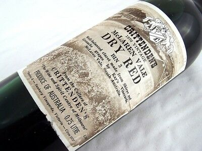 1970 CRITTENDENS Bin 3 Dry Red Shiraz Grenache E Isle of Wine