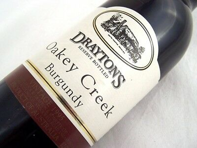 1995 DRAYTONS Family Wines Oakey Creek Burgundy Shiraz Isle of Wine