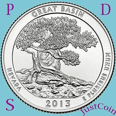 2013 Pds Set Great Basin (Nv) National Park Quarters Uncirculated U.s.mint