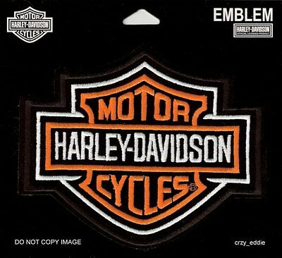 Harley Davidson Classic Bar & Shield Small Vest Patch  ** Made In The Usa **  Sm