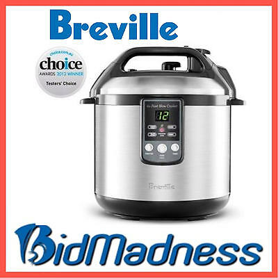 NEW 6LTR BREVILLE STAINLESS STEEL PROGRAMMABLE FAST SLOW PRESSURE COOKER  BPR200