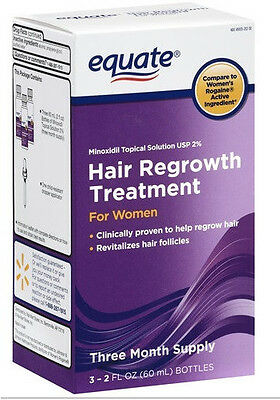 Equate Women's Hair Regrowth Topical Solution 2% Minoxidil 3 Months Supply 2018