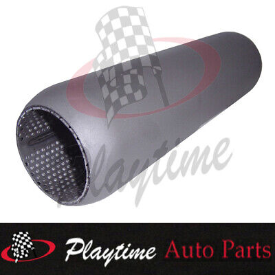 """Redback Hotdog Muffler Perforated 2.25"""" in & out 12"""" long with Glass Packing"""