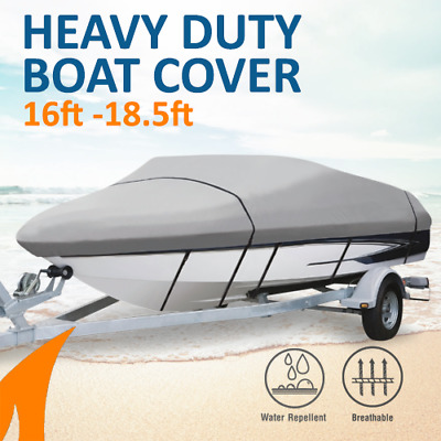 Heavy-Duty, Marine Grade 16ft-18.5ft Trailerable Boat Cover