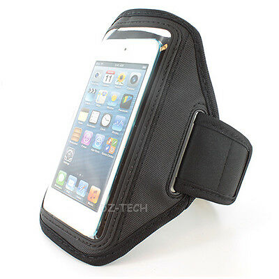 Black Sport Gym Armband Jogging Workout Case Cover iPod Touch 5 5G 5TH Accessory