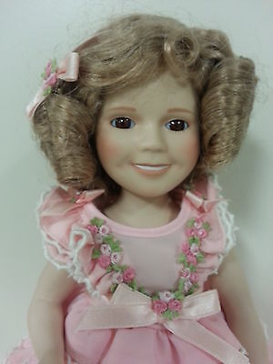 Shirley Temple  Porcelain Doll 14 inches tall