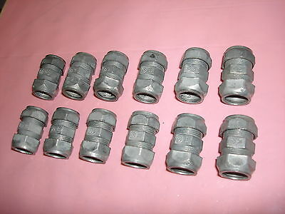 "Lot of 12 - Halex 1/2"" Zinc Compression Coupling - 20221"