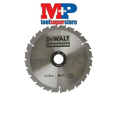 DEWALT DT1154QZ Circular Saw Blade 216 x 30mm x 24T Series 30 Construction Fast