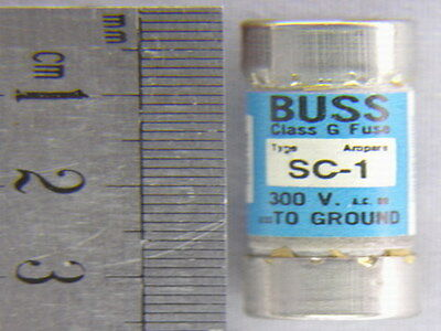5 Buss SC-1 1A 300V Time Delay Fuses