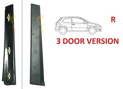 Ford Fiesta Mk6 Vi 02-08 3D Vertical External Door Pillar Trim Frame Cover Right