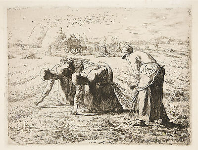Jean-Francois Millet Reproduction: Les Glaneuses (The Gleaners) - Fine Art Print