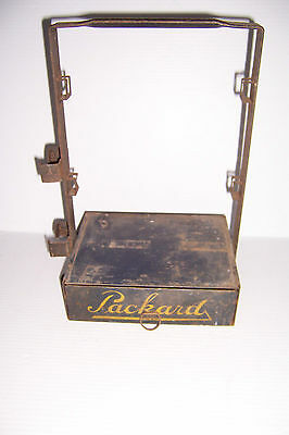 Vintage Packard Cable Terminals Metal Parts Cabinet Tote Carrier Box W/ Drawer
