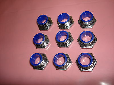 "Lot of 9 Thomas & Betts 1942 1/2"" Insulated Chase Nipple Connector Fitting"