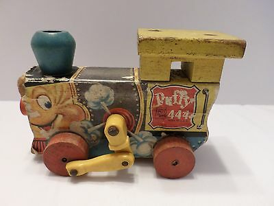 Vintage Fisher Price Puffy 444 Train Pull Toy