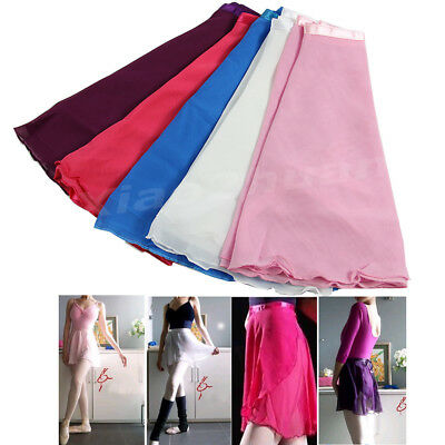 Adult Girl Women Chiffon Ballet Tutu Dance Skirt Skate Wrap Scarf 5 colors New