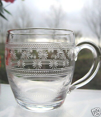 Punch Cup Victorian Glass Custard Cup Edwardian Glass Star Etched Antique Glass